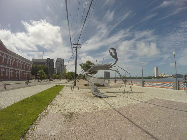 Na Rua da Aurora, o turista tem diversas atrações ao redor. Uma delas é a estátua de metal em formato de caranguejo. Com 5 metros de altura, a peça faz uma alusão aos mangues da cidade e também ao movimento manguebeat, cujo maior exponente foi o músico Chico Science.