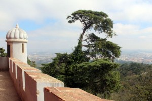 Vista de uma das extremidades do palácio.