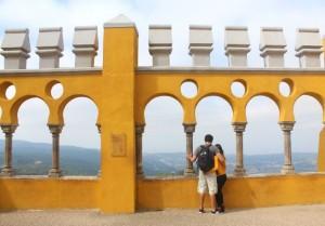 Do nosso álbum de viagem, no Palácio da Pena.