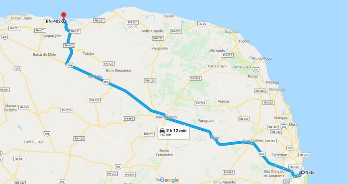 galinhos mapa